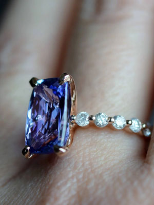 Tanzanite Diamond